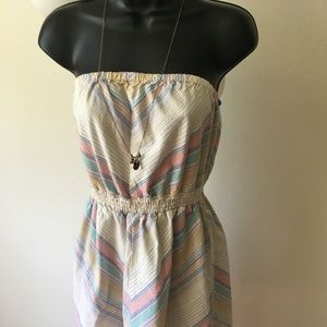 Mossimo 70s vibes Strapless summer dress